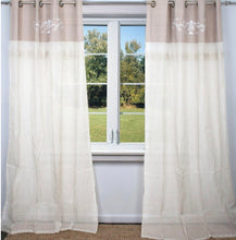 Load image into Gallery viewer, Juliette Linen Embroidered Curtains