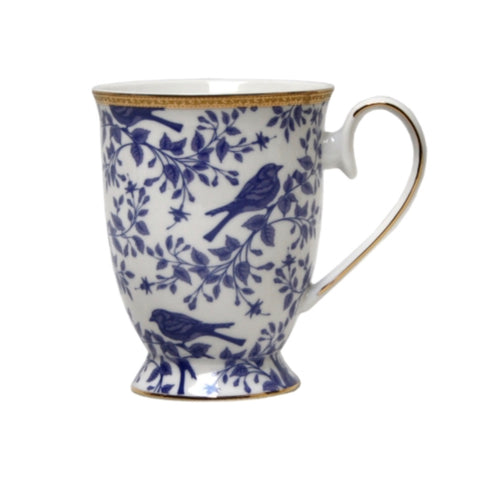 Blue and White Bird Mug