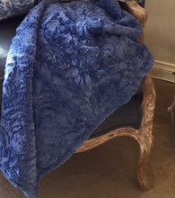Load image into Gallery viewer, Royal Blue Rosetti Throw