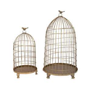 Gold Valentino Dome Bird Cage
