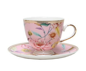 Cup and Saucer Primrose Chintz