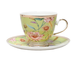 Cup and Saucer Pistachio Chintz