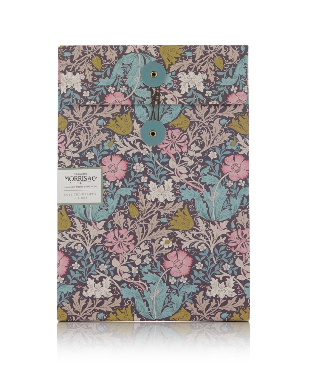 William Morris Pink Clay Drawer Liners