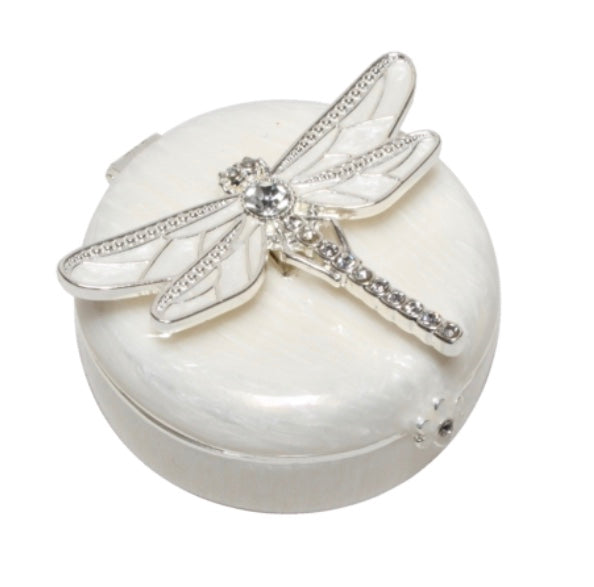 Ivory Enamel Dragon Fly Jewelry Box