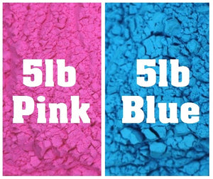 gender reveal color powder pink blue