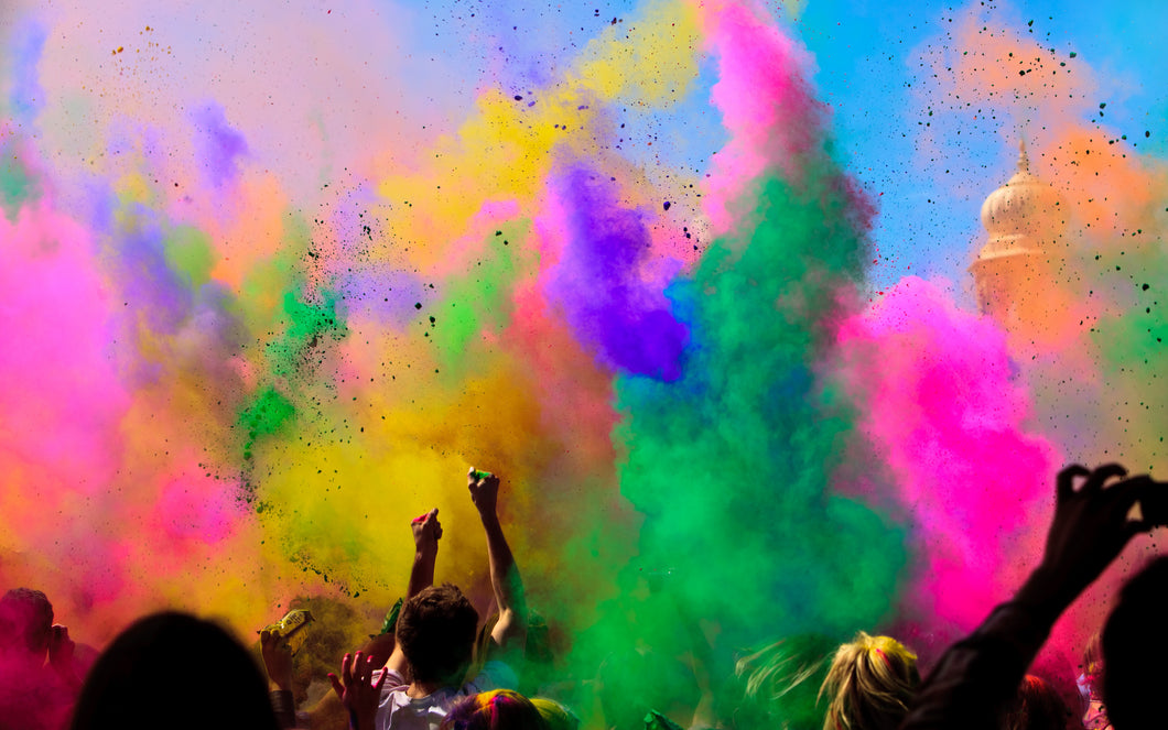 hippie powder holi color blaze festival