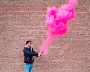 gender reveal powder cannon pink