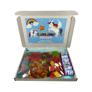Unicorn Themed Birthday Party Sweet Gift Box