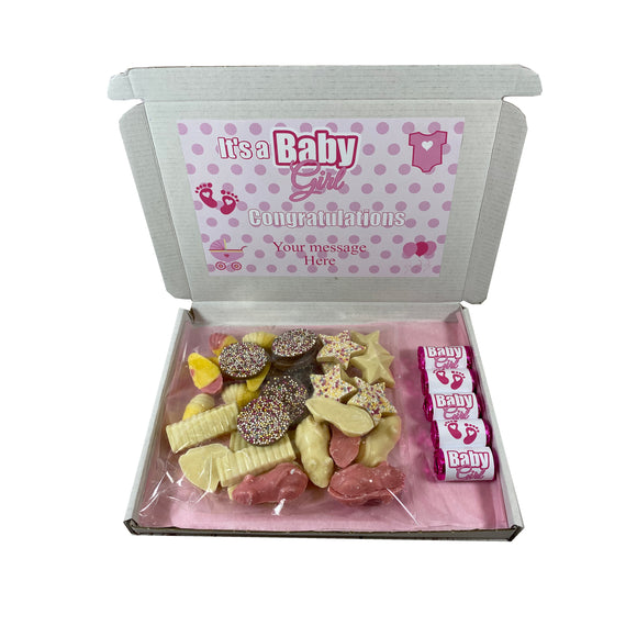 It's a Girl Pink Chocolate Gift Box