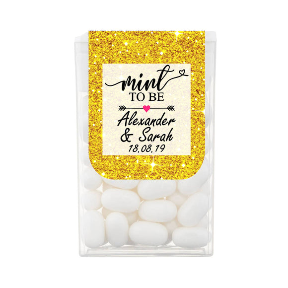 Personalised Rustic Mint To Be Tic Tacs Wedding Engagement Party Favours sweets