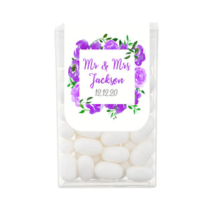 Purple Watercolour Floral Tic Tac Favours