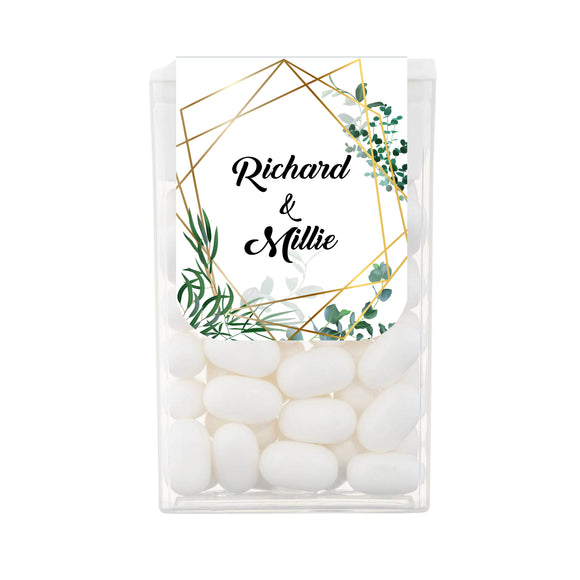 Geometric Wedding Engagement Tic Tac Favours