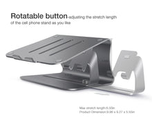 Load image into Gallery viewer, Bestand TI-Station 104 - Aluminium Laptop Stand With Cell Phone Stand 2 in 1