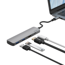 Load image into Gallery viewer, USB C HDMI Hub with PD 4 Ports in One
