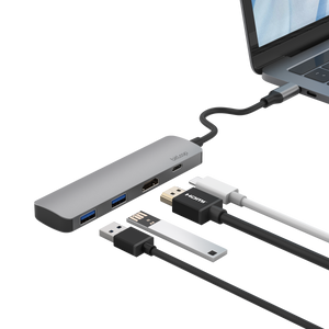 USB C HDMI Hub with PD 4 Ports in One