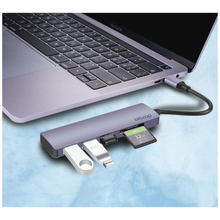 Load image into Gallery viewer, USB C SD Card Reader Hub with 3 USB 3.0 ports