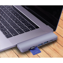 Load image into Gallery viewer, Dual USB C 5 Port Hub for MacBook Pro/Air