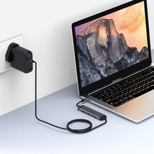 Load image into Gallery viewer, USB C 5 Port Hub with Charging Cable