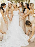 Beautiful Round Neck Sleeveless Sheath Sequined Long Bridesmaid Dresses,FPWG203