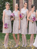2019 Mismatched Lace Cheap Short Bridesmaid Dresses,FPWG014