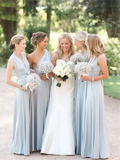 A-Line Sleeveless Chiffon Cheap Long Bridesmaid Dresses,FPWG026