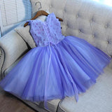 A-Line V-Neck Tulle Sleeveless Homecoming Dresses With Hand Made Flower,FPBD035