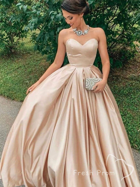 Charming A-Line Sweetheart Cheap Long Prom Dresses For Curvy Girls,FPPD375