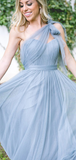 A-Line Sweetheart Sleeveless Convertible Tulle Long Bridesmaid Dresses,FPWG131