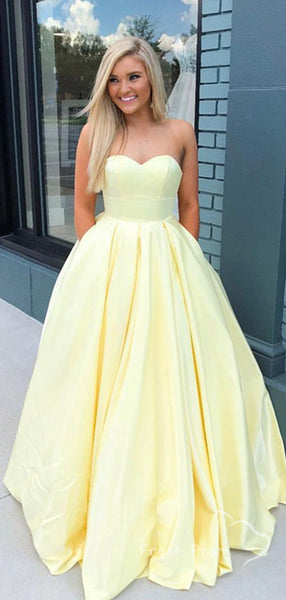 Simple A-Line Sweetheart Cheap Long Prom Dresses Online,FPPD443