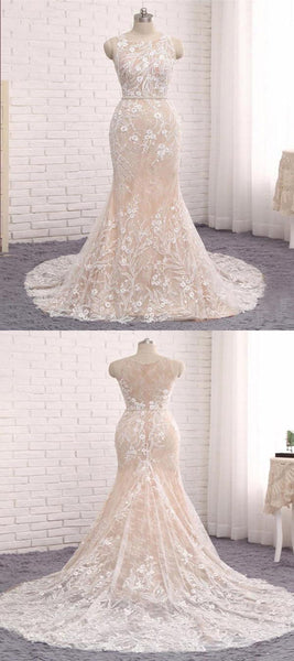 Prevalent Mermaid Scoop Neckline Sleeveless Appliqued Prom Dresses Online,FPPD052