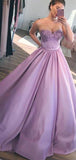 A-Line Sweetheart Lilac Ball Gown Evening Prom Dresses,FPPD088