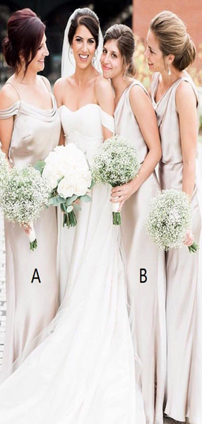 Sexy Mermaid Mismatched Cheap Custom Long Bridesmaid Dresses Online,FPWG268