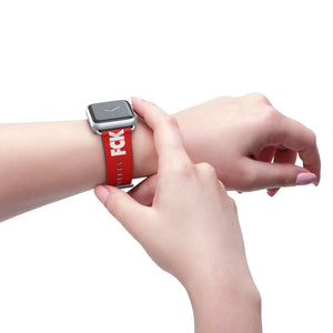 Fck Racism Red Apple Watch Band