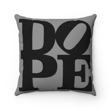 "Load image into Gallery viewer, DOPE Black & Grey - 18"" Square Pillow"