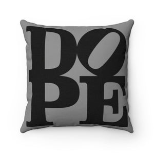 "DOPE Black & Grey - 18"" Square Pillow"
