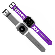 Load image into Gallery viewer, Fck Racism Purple Apple Watch Band