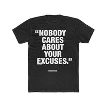 Load image into Gallery viewer, Coach Talk: NOBODY CARES - Unisex Cotton Crew Tee