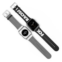 Load image into Gallery viewer, Fck Racism Black Apple Watch Band