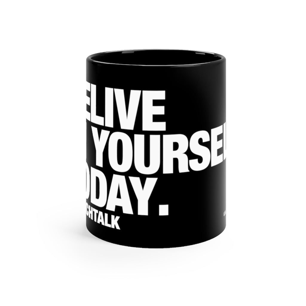 Coach Talk: Believe in Yourself - Black mug 11oz