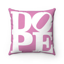 "Load image into Gallery viewer, DOPE Pink & White - 18"" Square Pillow"