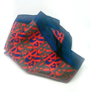 DOPE Navy & Red Pocket Square