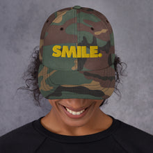 Load image into Gallery viewer, Dolvett Says SMILE - Embroidered Dad hat
