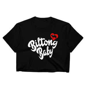 Biltong Baby - Women's Crop Top in Black