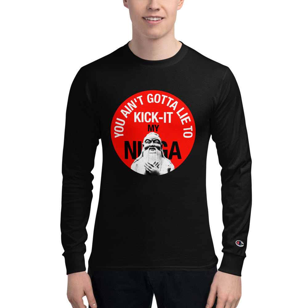 You Ain't Gotta Lie - Men's Champion Long Sleeve Shirt in Black