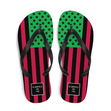 Load image into Gallery viewer, RBG AmericanFlagRemix Flip-Flops
