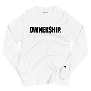 OWNERSHIP - Men's Champion Long Sleeve Shirt in White