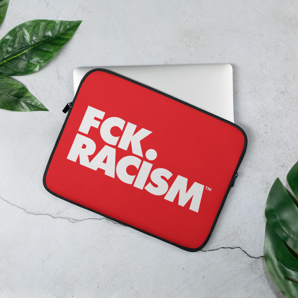 FCK Racism Red Laptop Sleeve