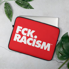Load image into Gallery viewer, FCK Racism Red Laptop Sleeve