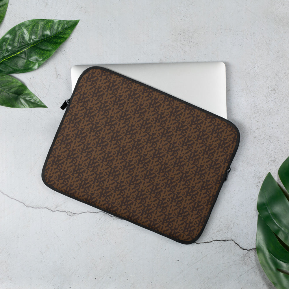 DOPE Brown Two-tine Laptop Sleeve in Two sizes