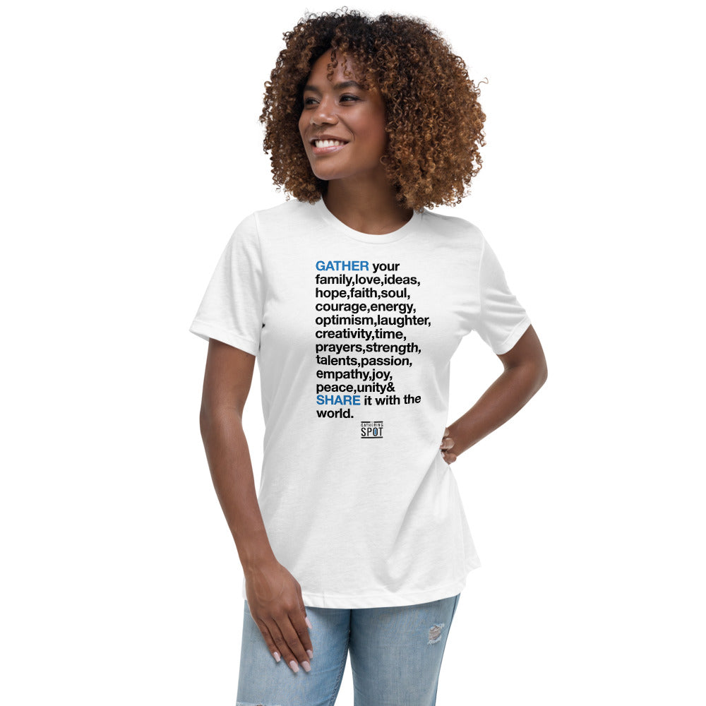 TGS - GATHER the WORDS Women's Relaxed T-Shirt